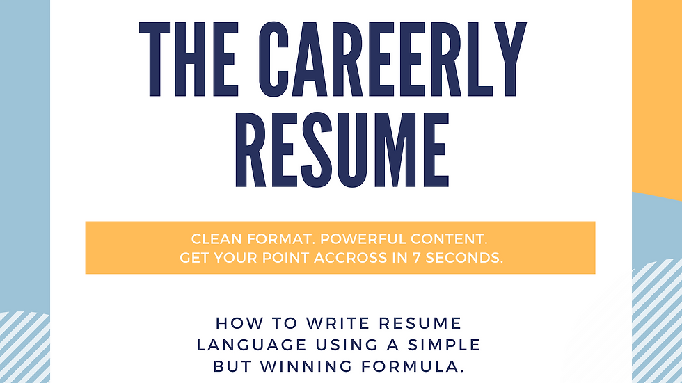 THE CAREERLY RESUME 2020