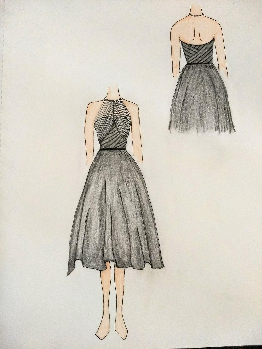 Kat's Bridesmaid Dress Sketch