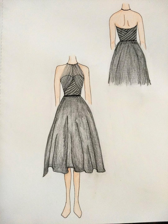 Kat's Bridesmaid Dress Sketch