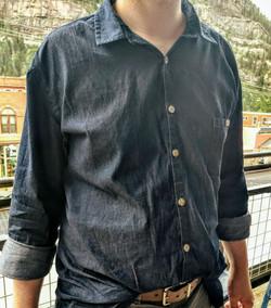 Isaac's custom shirt