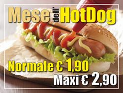 tovaglietta menu hotdog