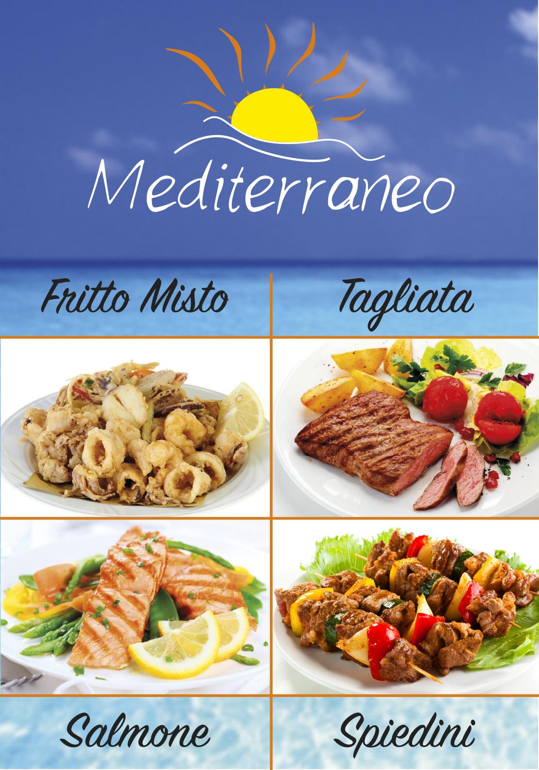 pannello mediterraneo 4 piatti