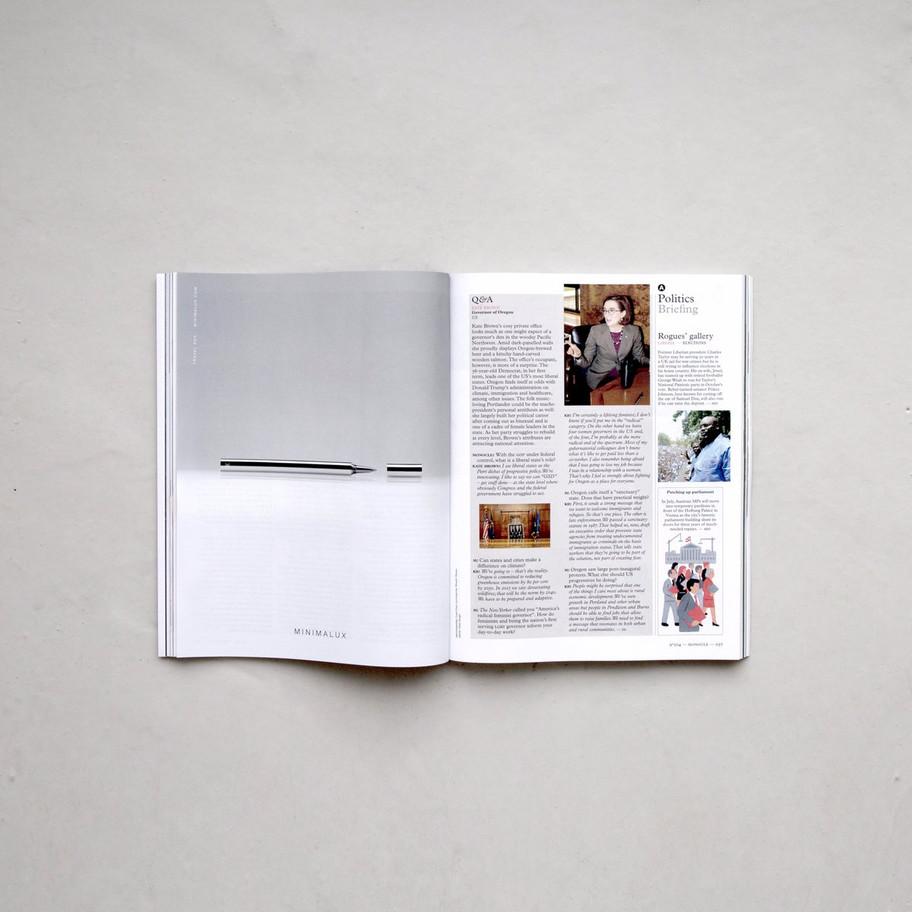 Advertising for Minimalux in Monocle Magazine 2017