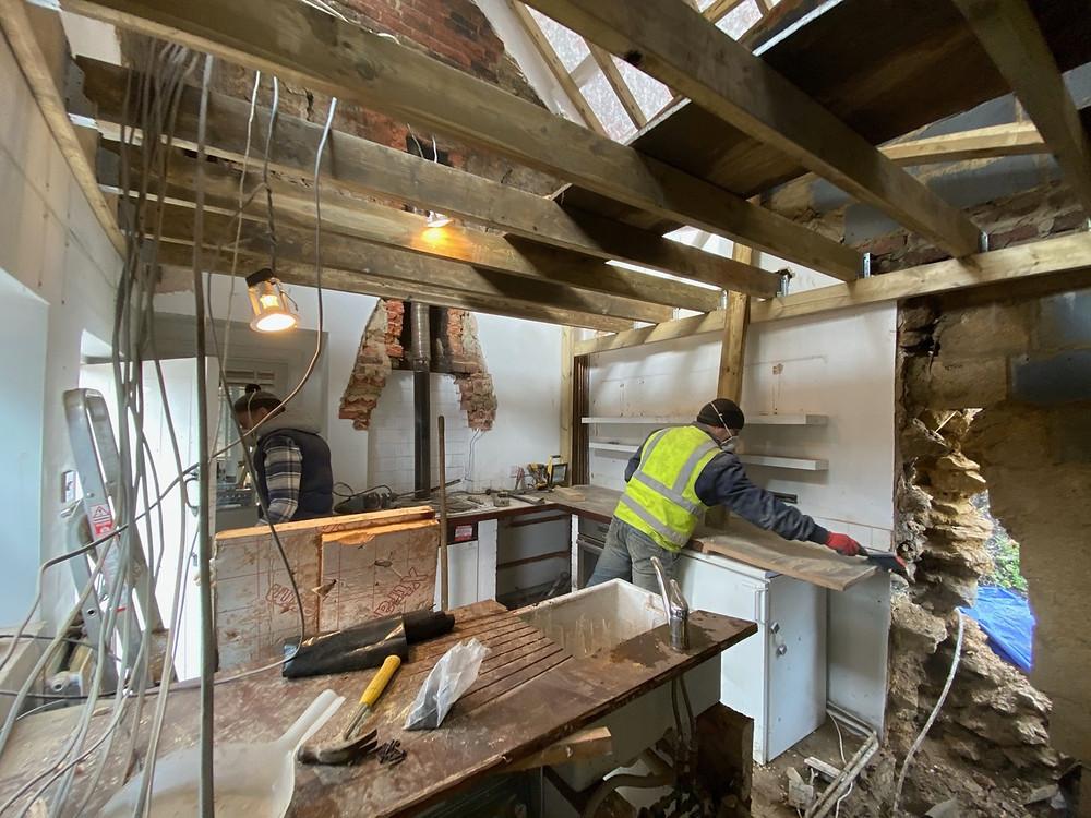 Oxfordshire cottage renovation building site