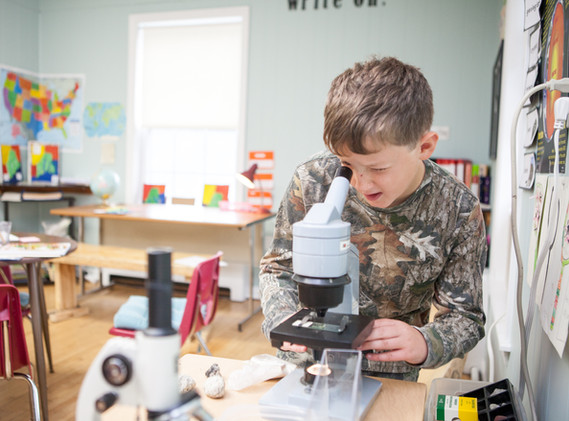 Machias Valley Christian school microsco