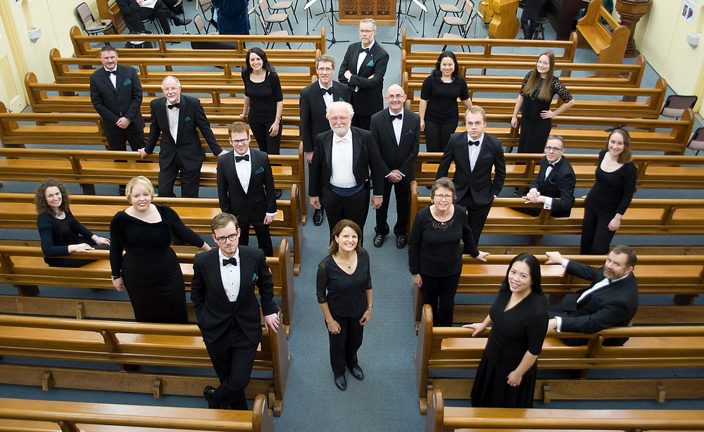 The choir of Ensemble Gombert at Woodend 2015