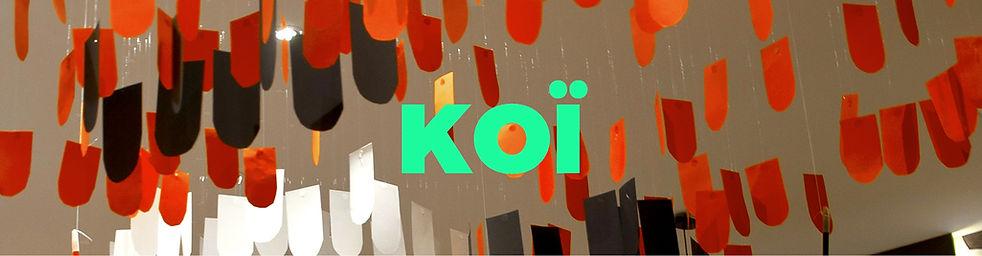 KOÏ, réveillon, food, design, culinaire, toolsoffood, livret, personnaliser, carpe, japonais, restaurant