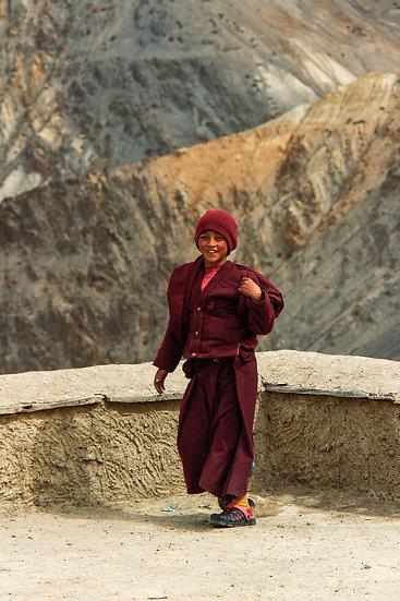 Young Monk at Lamayuru Monastery, Ladakh