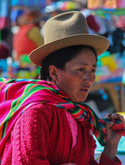 Woman at the Market, Urubamba