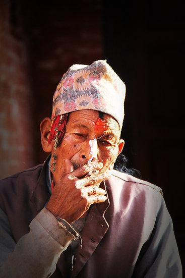 Pilgrim Smoking, Kathmandu