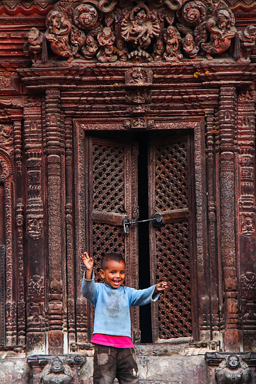 Young Child at the Temple Door, Rajasthan