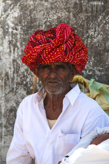 Man with Red Turban, Rajasthan
