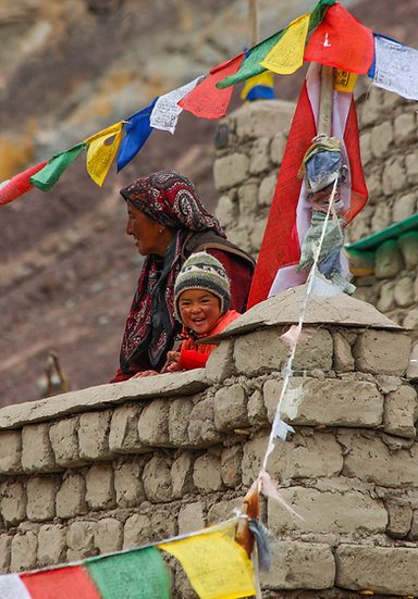 Mother and Child at Hemis, Ladakh
