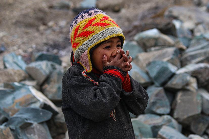 Young Boy Laughing, Ladakh