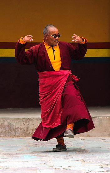 Monk Dancing, Ladakh