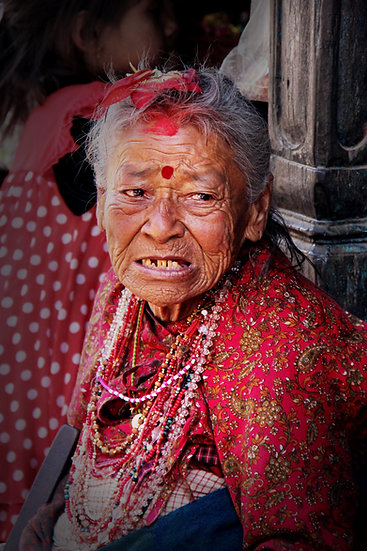 Woman at Buddhist Temple, Kathmandu