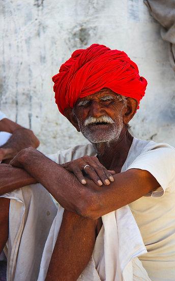Seated Villager, Rajasthan