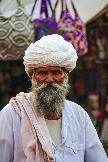 Pilgrim at the Market, Agra