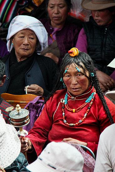 Woman with Prayer Wheel, Lhasa
