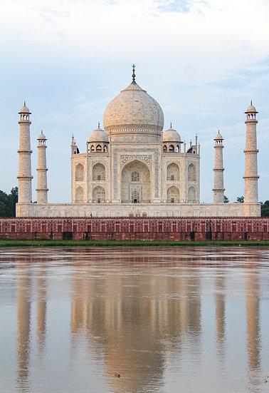 Taj Mahal Reflection on the Yamuna River, Agra