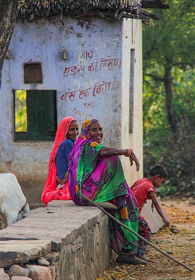 Villagers in Ajabgarh, Rajasthan