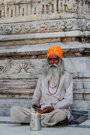 Sadhu at Jagdish Temple, Udaipur