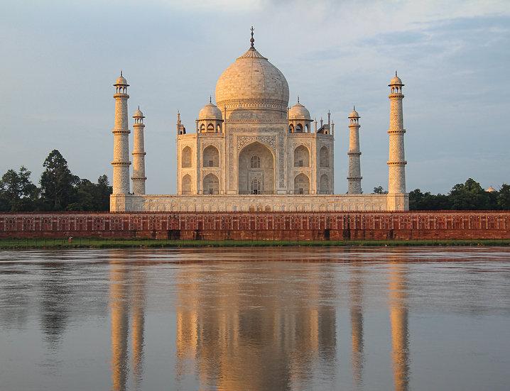Taj Mahal Reflection at Sunrise, Agra
