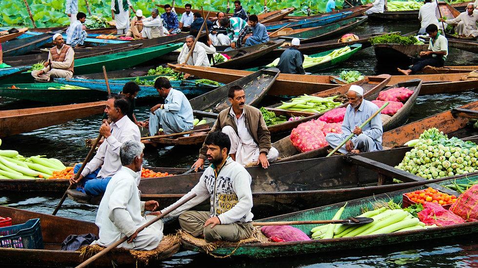 Floating Market on Dal Lake, Kashmir