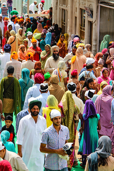 Crowds at the Golden Temple, Amritsar