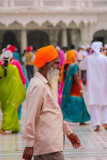 Pilgrim with Orange Turban, Amritsar