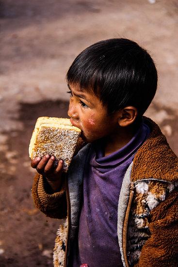 Young Boy Eating Cake, Kathmandu