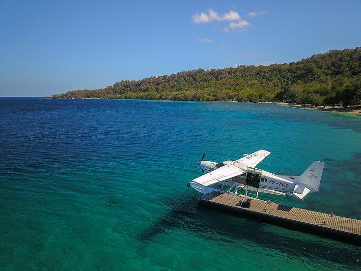 Seaplane at Jetty, Moyo Island