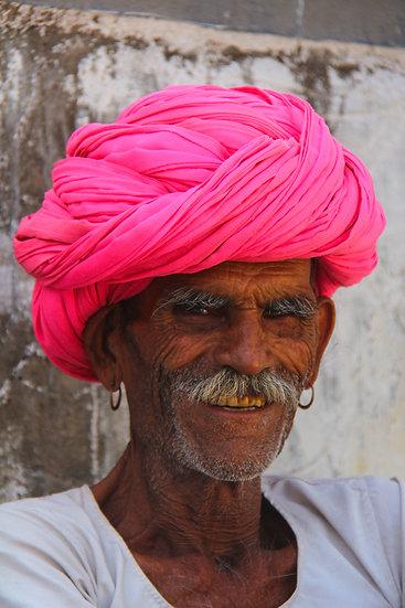 Man with Pink Turban, Rajasthan