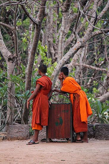 Two Monks Resting, Luang Prabang