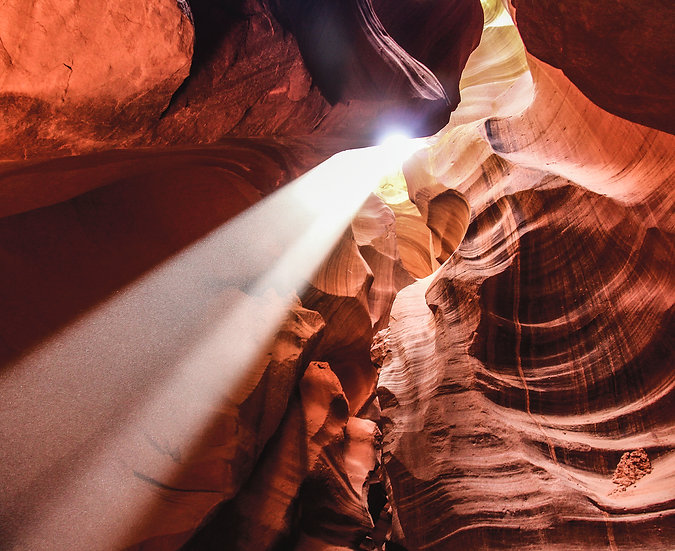 Light Beam in Antelope Canyon