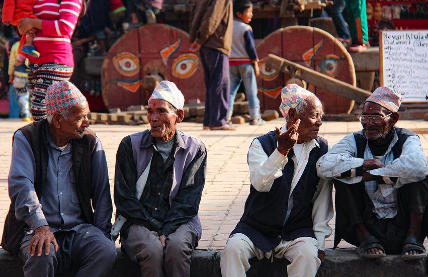 Men Chatting, Kathmandu