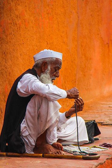 Man with Prayer Beads, Agra