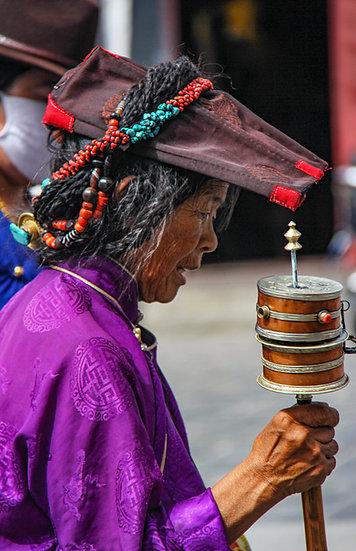 Woman at Saga Dawa Festival, Lhasa