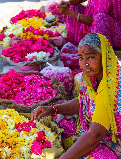 Flower Seller, Udaipur