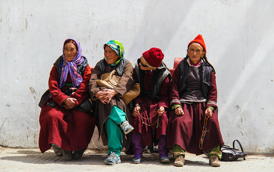 Women on a Bench, Ladakh