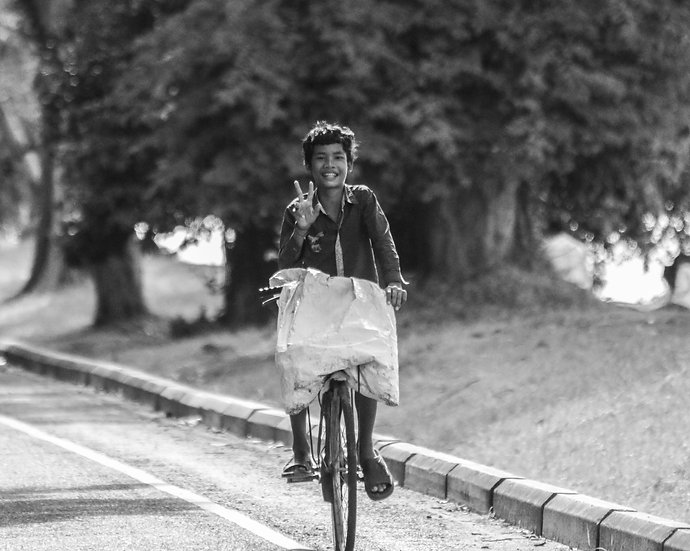 Boy on his Bicycle, Siem Reap