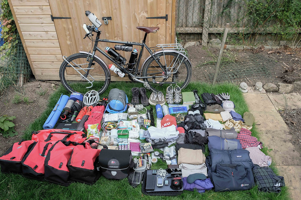 Travelling on a bike kit