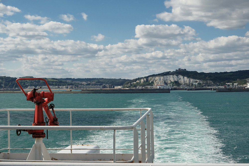 White cliffs of Dover from the ferry
