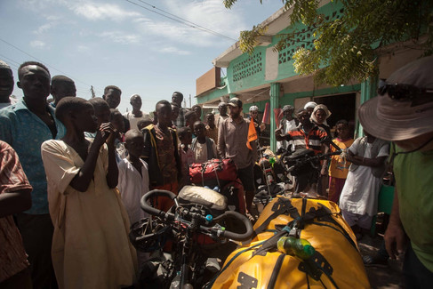Stopping for refreshments in Sudan