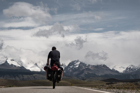 Riding towards El Chalten