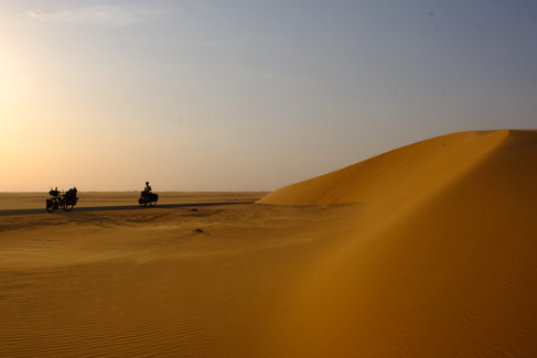 Roadside sand dunes