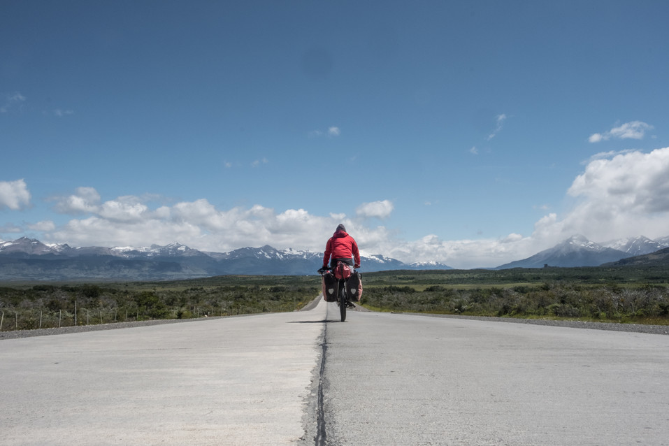 The road to Torres del Paine National Park
