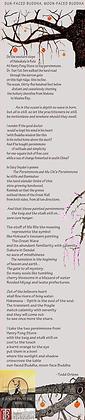 """""""Sun-Faced Buddha, Moon-Faced Buddha Linen Scroll"""