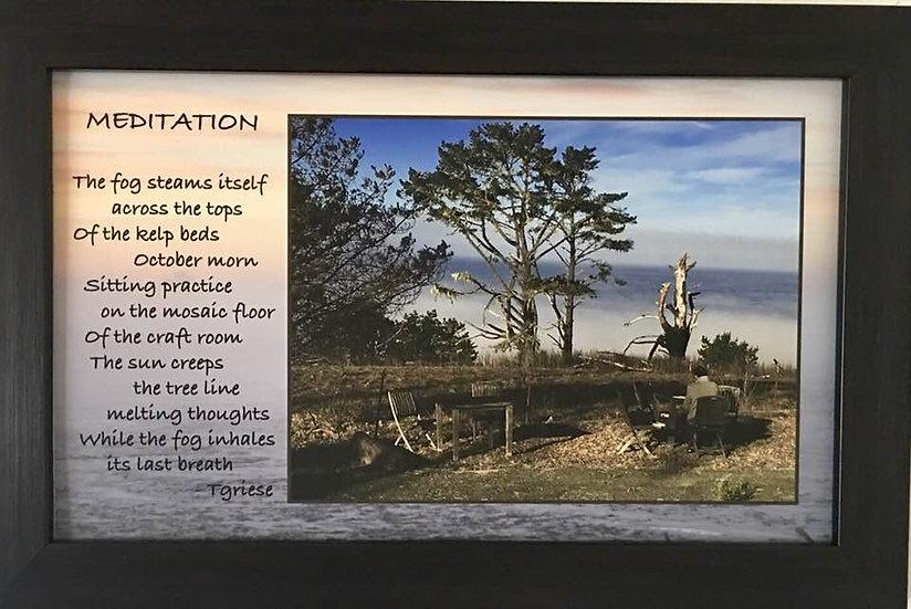 """Meditation"" Framed Linen Mount"