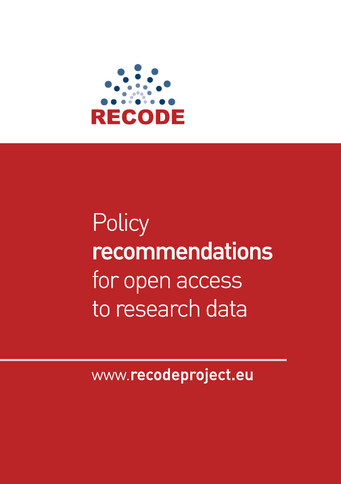 Policy  recommendations  for open access  to research data
